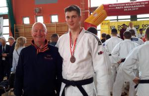 J. Jackiewicz z trenerem C. Majewskim