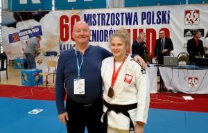 J. Sliwa z trenerem C. Majewskim