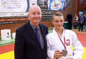 Maciej Rombel z trenerem 2 miejsce XXIII OOM 2017