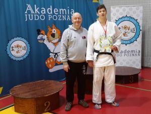 M. Jackiewicz z trenerem C. Majewskim
